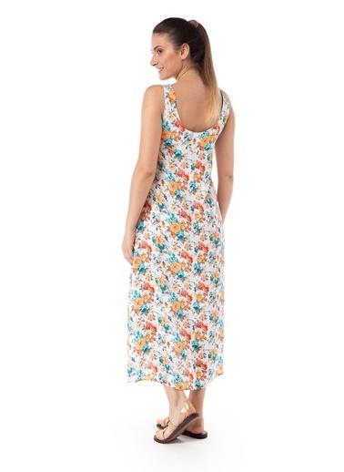 Pamuk & Pamuk Kadın Çiçek Desenli Renkli Elbise Renkli